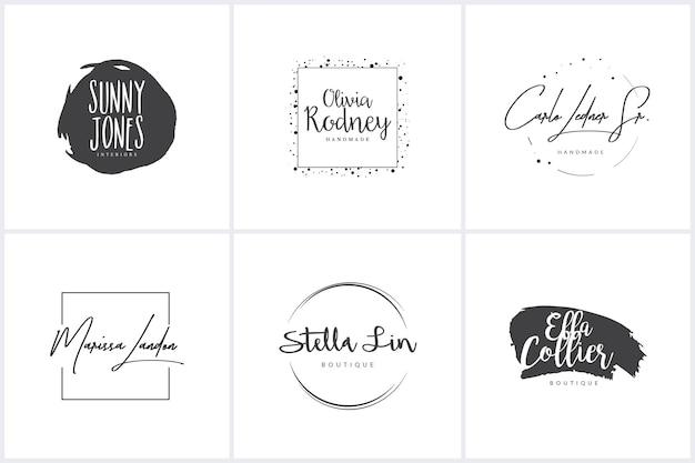 Коллекция женских логотипов