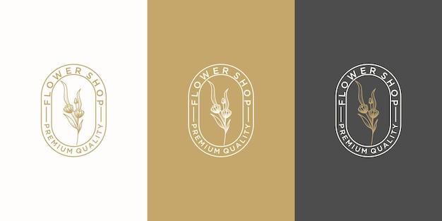 Женский роскошный цветочный логотип, спа, салон, природа, бутик, свадьба, цветочный магазин и другие