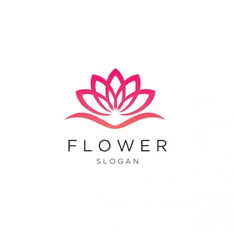 Feminine luxury lotus flower logo template