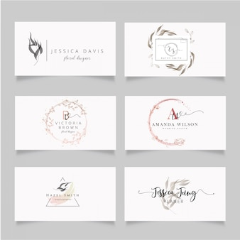 Feminine and minimalist business card
