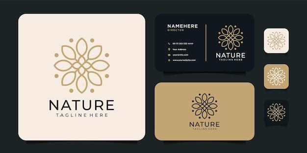 フェミニンな自然の花のロゴ