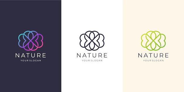 Feminine nature line art style. beauty spa,nature, logo suitable for spa salon, skin hair, beauty, boutique and cosmetic, company.