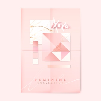 Feminine pink poster