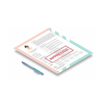 インフォ グラフィック デザインのフェミニンな履歴書。