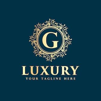 Королевский роскошный винтажный королевский стиль дизайн логотипа с роскошным орнаментом, подходящим для отеля спа ресторан ресторан бизнес красоты