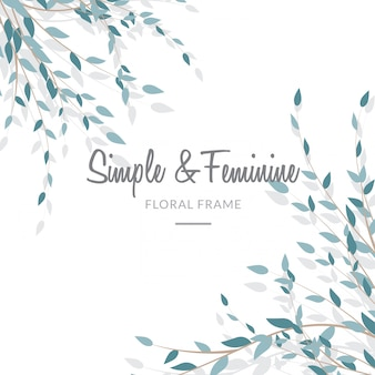 Feminine and simple leave background