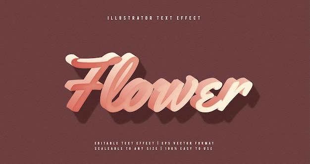 Feminine soft pink text font effect