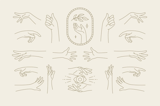 Feminine symbols for fashion skin care cosmetics emblem and packaging or beauty products logo branding