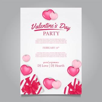 여성 발렌타인 데이 파티 포스터