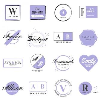 Feminine vintage retro vector logo for banner
