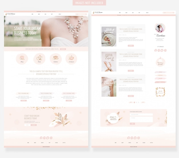 Feminine website template