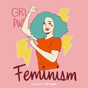 Feminism concept background