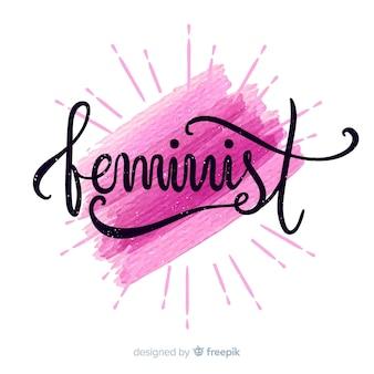 Feminism concept background