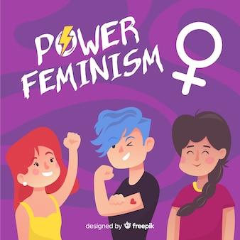 Feminism concept