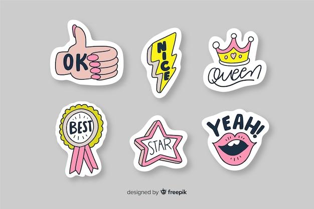 Feminist stickers to decorate photos