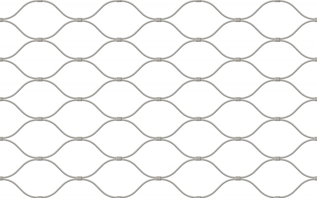 Fence made of wire seamless pattern