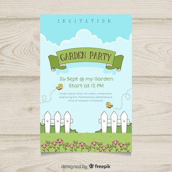 Fence spring party poster template