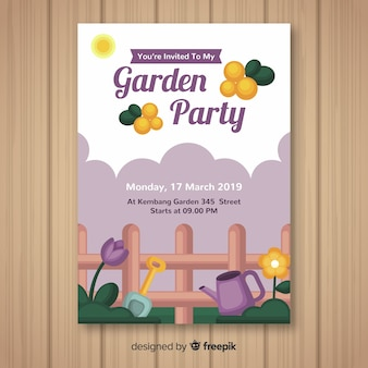 Fence spring party poster