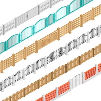 Заборы и ворота изометрии