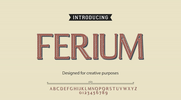 Алфавит шрифта ferium
