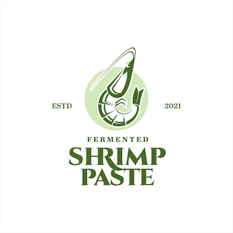 요리 라벨에 대한 발효 새우 페이스트 벡터 조미료 성분 해산물 맛