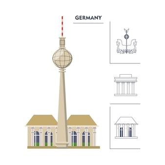 Fernsehturm берлинская телебашня icon
