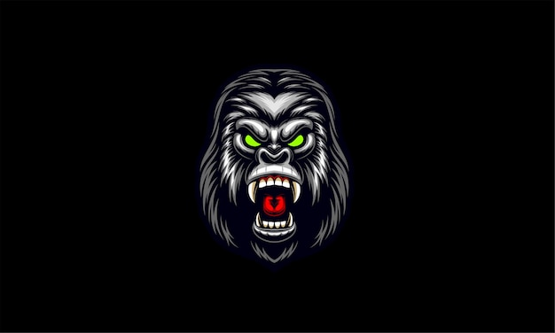 Свирепая голова гориллы