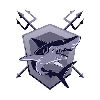 Ferocious shark insignia