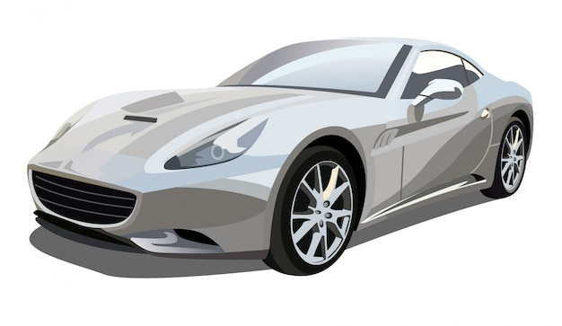 Иллюстрация ferrari california sport car