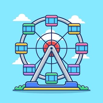Ferris wheel carnival cartoon
