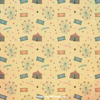 Ferris wheel and circus tent pattern