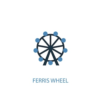 Ferris wheel concept 2 colored icon. simple blue element illustration. ferris wheel concept symbol design. can be used for web and mobile ui/ux
