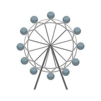 Колесо обозрения векторный icon. символ притяжения. плоские векторные иллюстрации, изолированные на белом фоне
