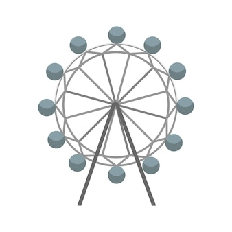 Ferris wheel vector icon. attraction symbol. flat vector illustration isolated on white background