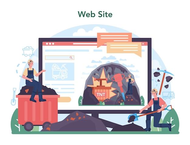 철 야금 온라인 서비스 또는 플랫폼. 강철 또는 금속 추출