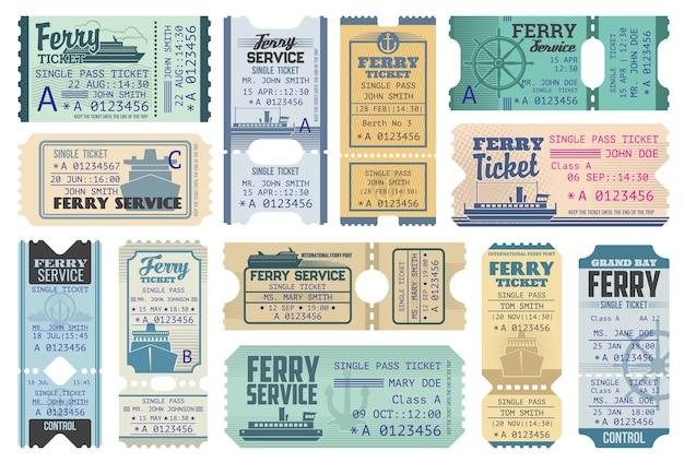 바다와 바다 크루즈 페리 티켓