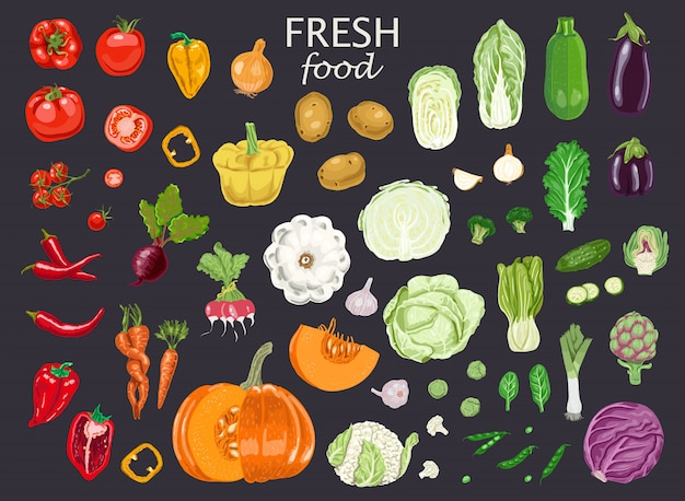Fesh food and vegetables