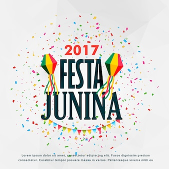 Festa junina 2017 design