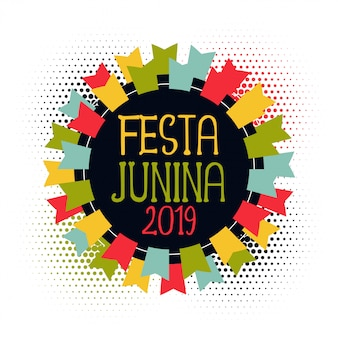 Festa junina 2019 abstract flags