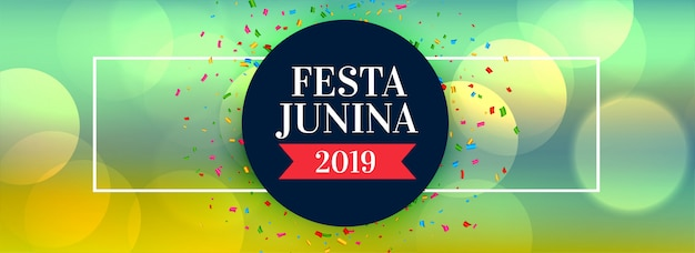 Festa junina 2019 celebration banner