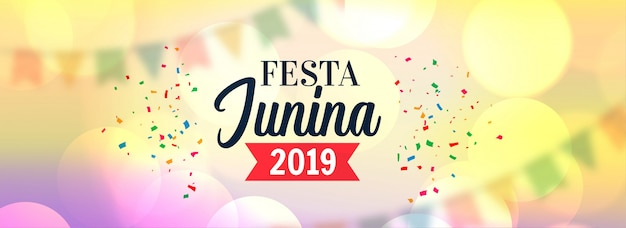 Festa junina 2019 celebration design