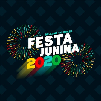 Festa junina 2020 celebration poster design background