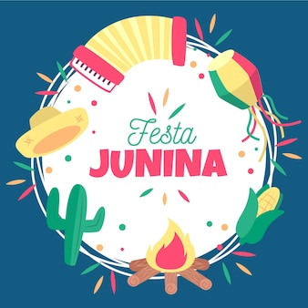 Festa junina background concept