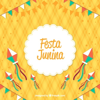 Festa junina background with colorful elements