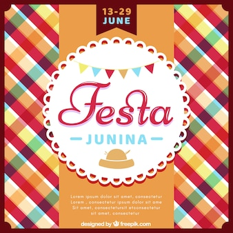 Festa junina background with colorful pattern