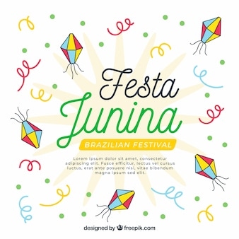 Festa junina фон с конфетти