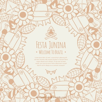 Festa junina background with elements