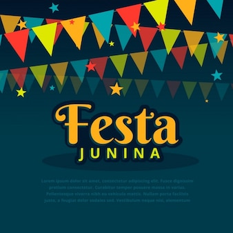 Festa junina background with garlands