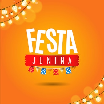 Festa junina background with lights