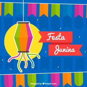 Festa junina background with ornaments